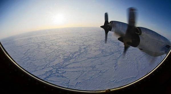 Arctic ice shrinks to record low
